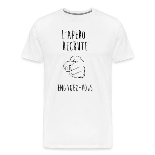 L'Apéro Recrute, Engagez-vous - T-shirt Premium Homme