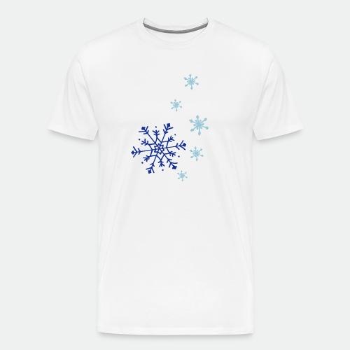 Snowflakes falling - Men's Premium T-Shirt