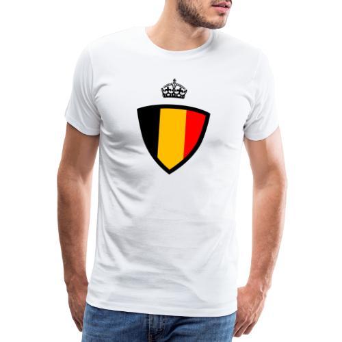 Koninkrijk belgië schild - T-shirt Premium Homme