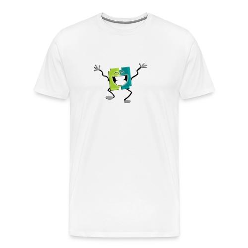 Blij blokje - Mannen Premium T-shirt