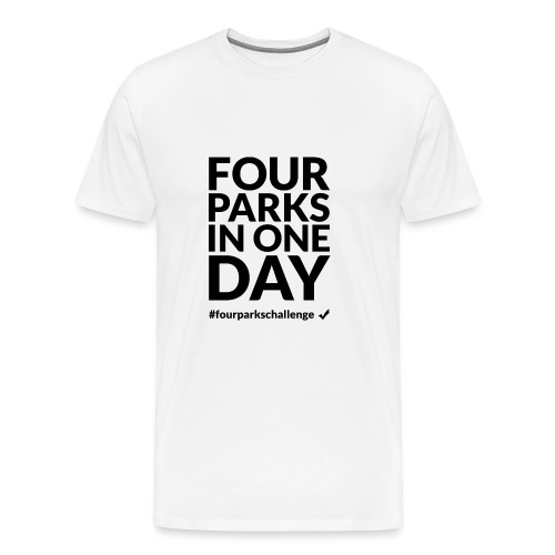Four parks in one day challenge (dark) - Men's Premium T-Shirt