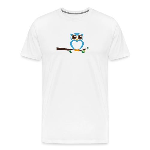 Blaue Eule - Männer Premium T-Shirt