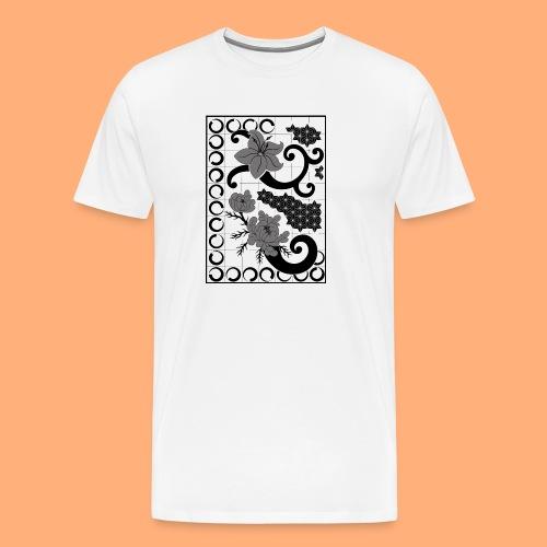 fleurs et graphisme - T-shirt Premium Homme