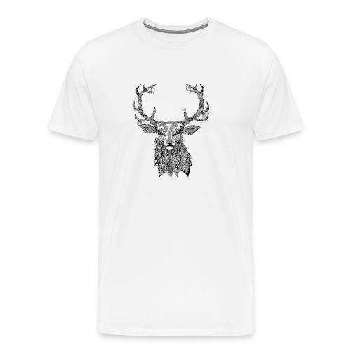 Ornate Buck Deer - Men's Premium T-Shirt
