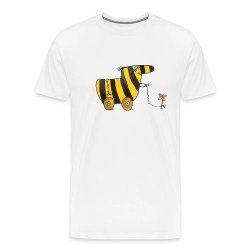 Janoschs Tigerente mit Blume - Männer Premium T-Shirt