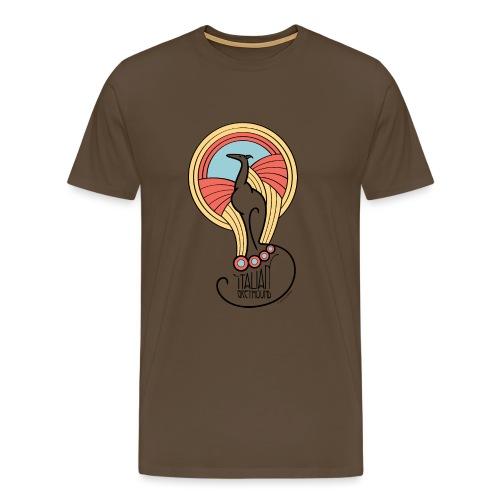 italian greyhound jugendstil 4 - Mannen Premium T-shirt