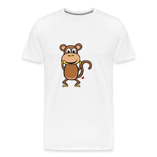 Kocham Małpę - Biały napis - Koszulka męska Premium