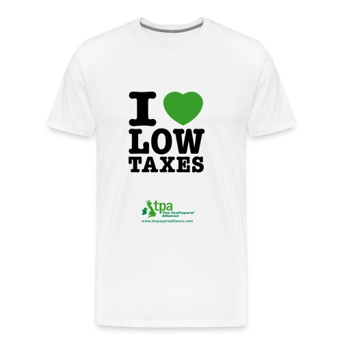 i love low taxes cmyk 2 spots 2 - Men's Premium T-Shirt