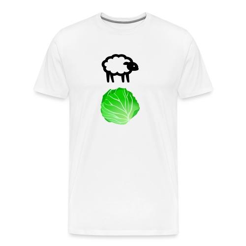 Fårikål - Sort - Premium T-skjorte for menn