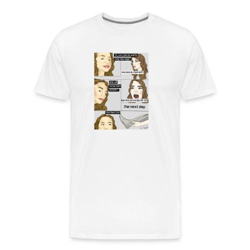 Fake legg, gymbag - Premium T-skjorte for menn