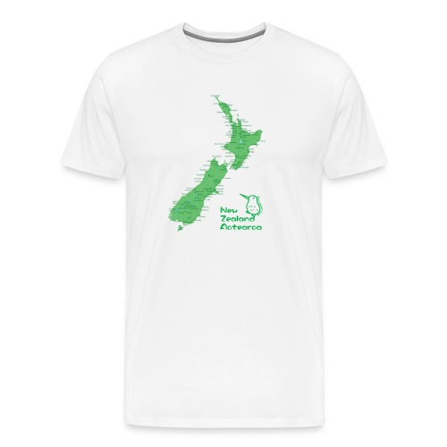 New Zealand's Map - Men's Premium T-Shirt