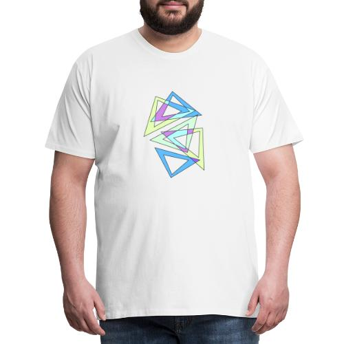 abstract triangles - Men's Premium T-Shirt