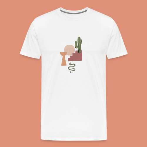 serpent et cactus - T-shirt Premium Homme