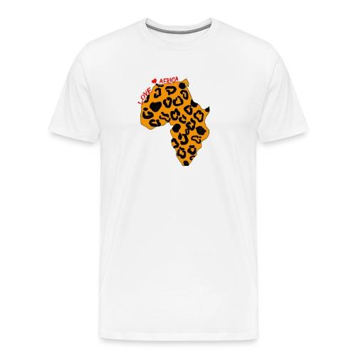 Carte d'Afrique Panthere - T-shirt Premium Homme