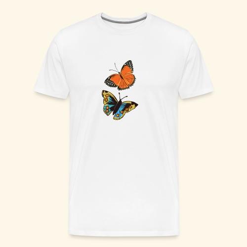 2 papillons - T-shirt Premium Homme