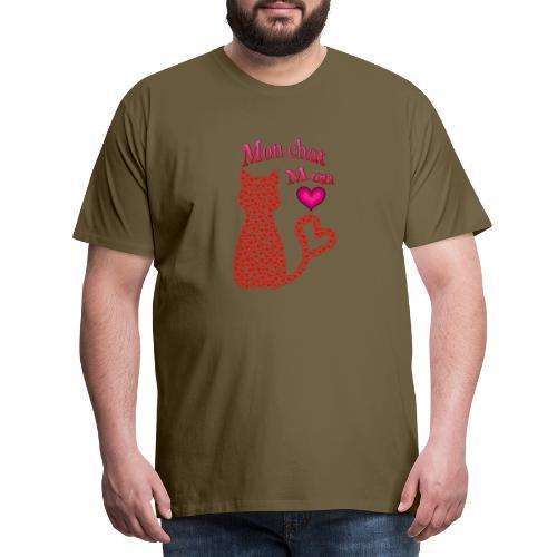 Mon chat mon coeur - T-shirt Premium Homme