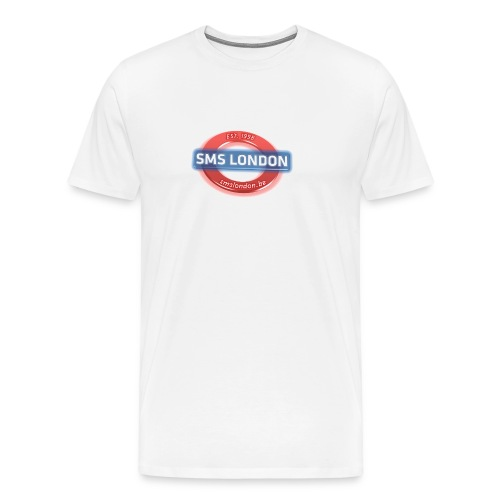 SMS London logo - Mannen Premium T-shirt