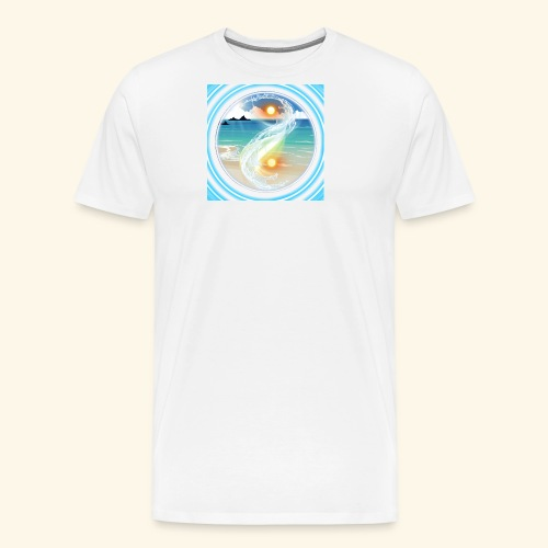 Yin Yang beach scene white - Men's Premium T-Shirt