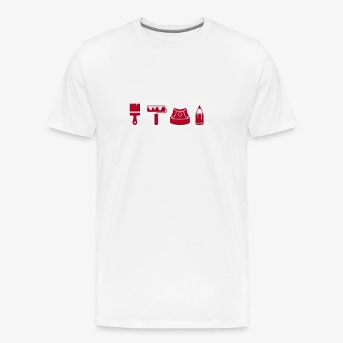 Graffiti Icons Full - Männer Premium T-Shirt