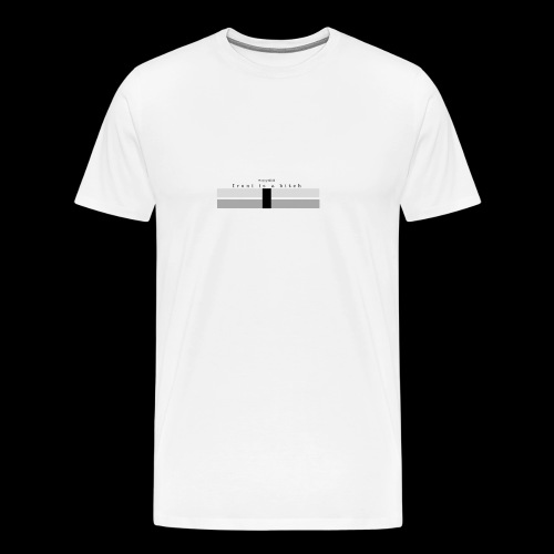 Ironi is a bitch - Herre premium T-shirt