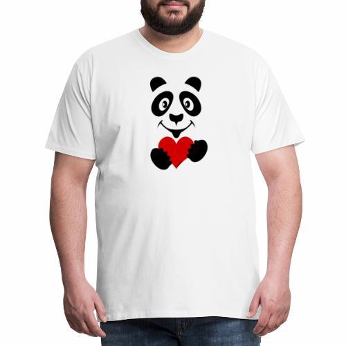 FP10-51A PANDA HEART Tekstiles and Gift products - Miesten premium t-paita