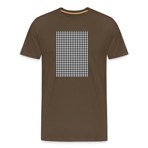 pied de poule v12 final01 - Mannen Premium T-shirt