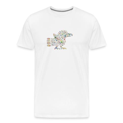 leuchtende Schwanzfederschlange - Männer Premium T-Shirt