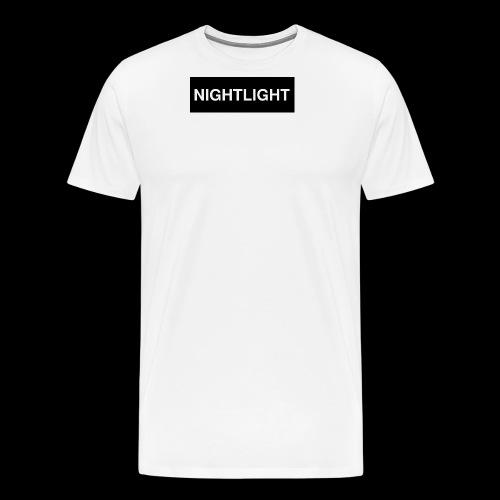 NIGHTLIGHT BOX LOGO (NIGHT) - Men's Premium T-Shirt