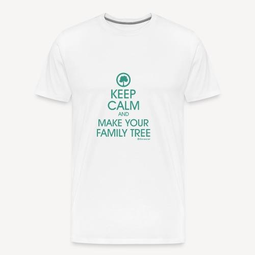 keep calm généalogie - T-shirt Premium Homme