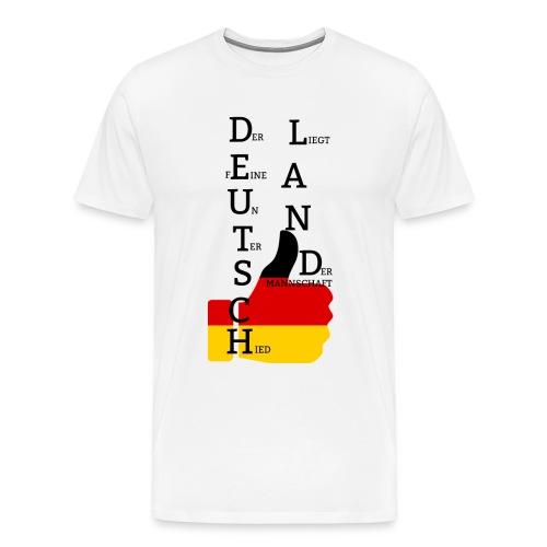 Deutsche Flagge mit Daumen 2 (Exklusives Design) - Männer Premium T-Shirt