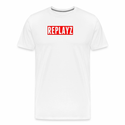Replayz Red Box Logo - Men's Premium T-Shirt