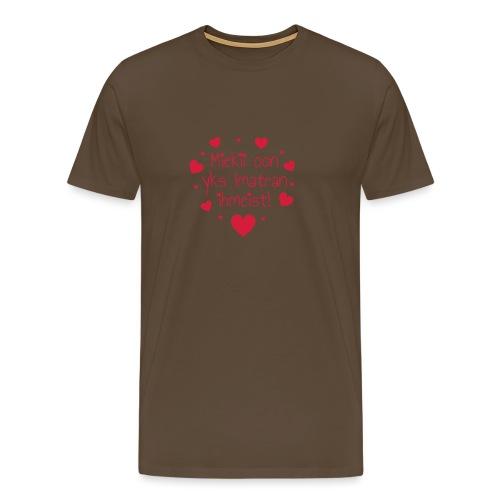 Miekii oon yks Imatran Ihmeist lasten t-paita - Miesten premium t-paita