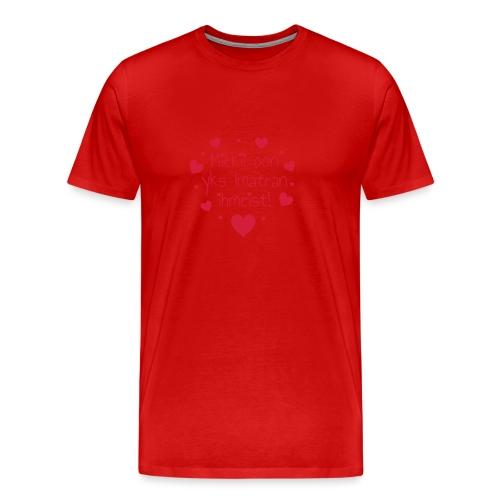Miekii oon yks Imatran Ihmeist vauvan lh body - Miesten premium t-paita