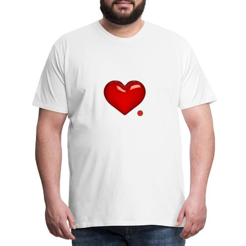 Amore e punto. Cuore. - Maglietta Premium da uomo