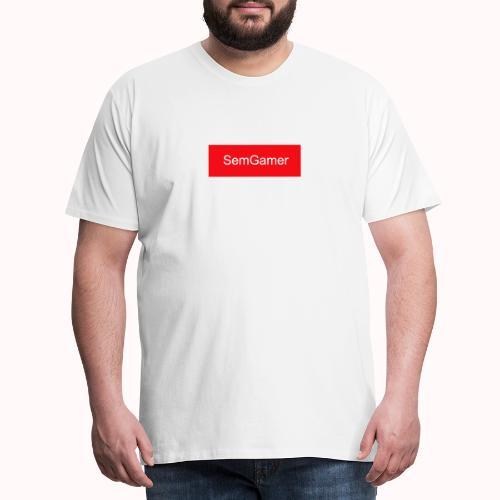 SemGamer in rood vak - Mannen Premium T-shirt