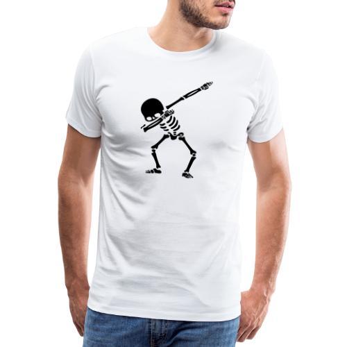 skjelett dab - Premium T-skjorte for menn