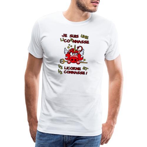 LicorNASSE Moitié Licorne Moitié Connasse - T-shirt Premium Homme
