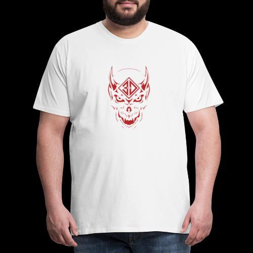 devil skull red - T-shirt Premium Homme