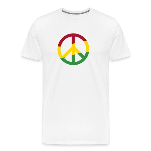 Peacezeichen Rastafari Reggae Musik Frieden Pace - Men's Premium T-Shirt