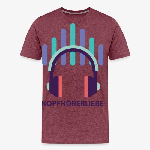 kopfhörerliebe - Männer Premium T-Shirt