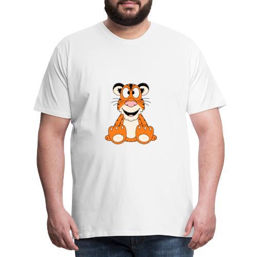 Lustiger Tiger - Kinder - Baby - Tier - Fun - Männer Premium T-Shirt