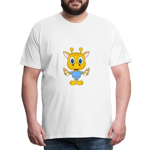 Lustige Giraffe - Baby - Geburt - Tier - Milch - Männer Premium T-Shirt