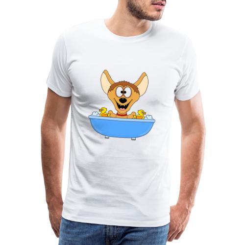 Lustige Hyäne - Badewanne - Kinder - Baby - Fun - Männer Premium T-Shirt