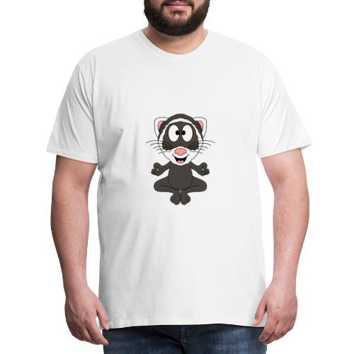 Lustiges Frettchen - Yoga - Relax - Chill - Fun - Männer Premium T-Shirt