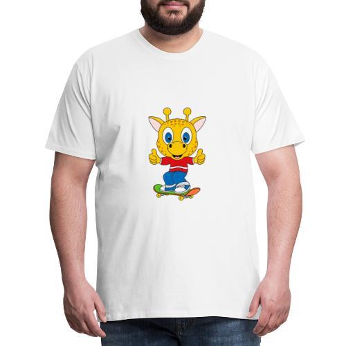 Lustige Giraffe - Skateboard - Sport - Fun - Männer Premium T-Shirt
