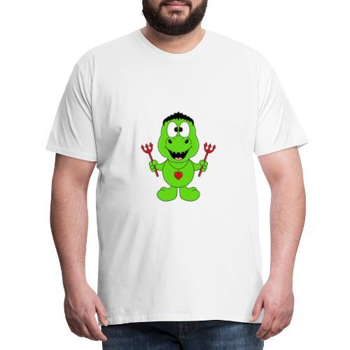 Lustiger Dino - Dinosaurier - Teufel - Kids - Baby - Männer Premium T-Shirt