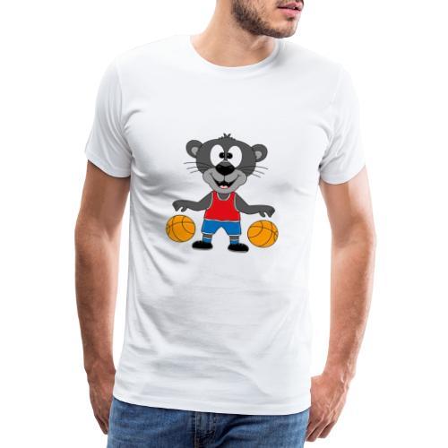 Lustiger Panther - Basketball - Sport - Tier - Fun - Männer Premium T-Shirt