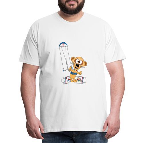 Lustiges Erdmännchen - Kite - Kitesurf - Kiter - Männer Premium T-Shirt