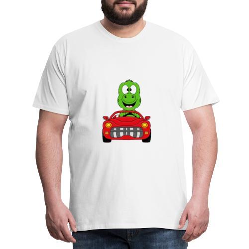 Lustiger Gecko - Echse - Auto - Cabrio - Car - Fun - Männer Premium T-Shirt