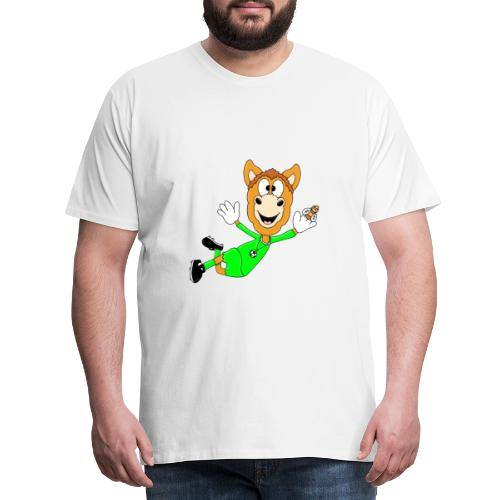 Lustiges Pferd - Fußball - Torwart - Fliegenfänger - Männer Premium T-Shirt